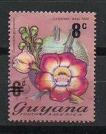 Ref: 1279. Guyana. Flora. 1974. Cannonball Tree. Sobrecargado. - Guyana (1966-...)