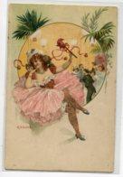 """ILLUSTRATEUR RATKI Danseuse Femme """"l Légère """" Fete  Cotillons  1900  Dos Non Divisé   D05 2019 - Illustrators & Photographers"""