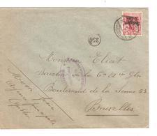 SJ102/ TP Oc 14 S/L.c.Hasselt 1917 écrit De Opitter Censure Hasselt V.BXL - Weltkrieg 1914-18