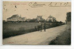 50 ST SAINT PAIR Sur MER Carte RARE Cavalier à Cheval Route Le Carmel Villas 1907 écrite - J  Puel Photo No 24 D05 2019 - Saint Pair Sur Mer