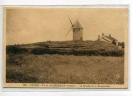 85 NOIRMOUTIER L'EPINE Le Moulin De La Mougendrie 167 Gaby écrite Du Vilage En 1938 Timbrée     D05 2019 - Noirmoutier