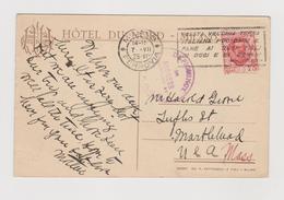 MILANO , Hotel Du Nord, Terrazza Del Ristorante,  Targhetta Pubblicitaria  - F.p. - Anni '1920 - Milano