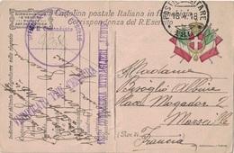 GUERRE 14-18 - ITALIE - DU 18-4-1918 - POSTA MILITARA 180 - CARTE FM 1833e COMPAGNIA MITRAGLIERI LEWIS - CACHET IL COMMA - Italia