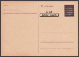 """P C 618 I, Aufdruckkarte """"Hitler"""", Ungebraucht - Amerikaanse-en Britse Zone"""