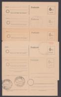 P 671, 5 Karten Mit Versch. Stempeln/Siegeln Der Ausgabeorte, Ungebraucht - Zone Belge