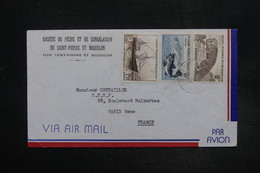 SAINT PIERRE & MIQUELON - Enveloppe Commerciale De St Pierre Pour Paris , Affranchissement Plaisant - L 27288 - St.Pierre Et Miquelon