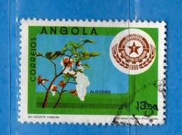 (Us.3) ANGOLA - ° 1980 - Congrès M.P.L.A., Yvert 628. Used - Usati.  Vedi Descrizione - Angola