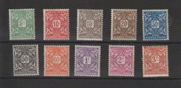 Haute Volta 1928 Série Taxe 11 à 20, 10 Val * Charnière - Upper Volta (1920-1932)