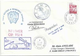 YT 2952 - Camargue - Lettre Postée à Bord Du Marion Dufresne - Hélicoptère Air Réunion - Port Aux Français - Kerguelen - France