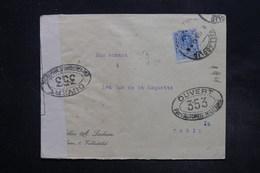 ESPAGNE - Enveloppe Commerciale De Valladolid Pour La France En 1917 Avec Contrôle Postal - L 27290 - 1889-1931 Royaume: Alphonse XIII