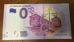 TRAIN DE LA RHUNE BILLET 0 EURO SOUVENIR 2019 BANKNOTE BANK NOTE 0 EURO SCHEINE PAPER MONEY - Ficción & Especímenes