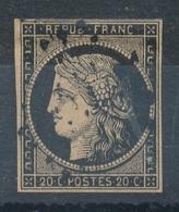 N°3 BELLE NUANCE OBLITERATION LOSANGE PETITS CHIFFRES. - 1849-1850 Cérès