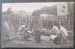 Indochine Confection Cercueil Than Hoa   Cpa Timbrée - Vietnam