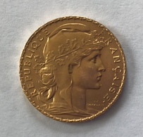 20 Francs Or COQ 1913 - France