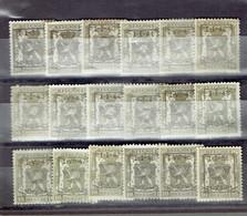 Set Belgium Préos - All Different - Préos Typo Belge Tous Différents - Tipo 1936-51 (Sigillo Piccolo)
