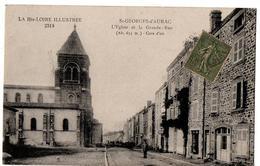 ST GEORGES D AURAC L EGLISE LA GRANDE RUE   ANIMEE - France