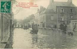 Dép 44 - Attelage De Chevaux - Nantes - Chantenay Sur Loire - Les Inondations Décembre 1910 - Rue Bougainville - état - Nantes
