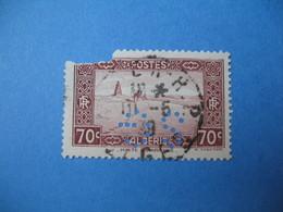 Perforé  Perfin  Algérie ,   Perforation :  SG33    à Voir - Algérie (1924-1962)