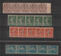 Cilicie 1920 Type Blanc 89 Et Semeuse 90 à 92 En Bandes De 5 Exemplaires ** MNH - Neufs