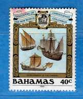 (Us3) ) BAHAMAS ° 1989 - Christophe Colom. Yvert. 682. Usato  Vedi Descrizione. - Bahamas (1973-...)