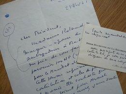 DUCHESSE Edmée DE LAROCHEFOUCAULD (1895-1991) Femme De Lettres. Jury FEMINA - 2 X AUTOGRAPHE à Pierre Béarn - Autographs