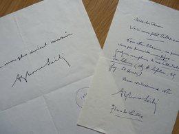 Alphonse SECHE (1876-1964) Poèète & Journaliste. AUTOGRAPHE à Pierre Béarn - Autografi
