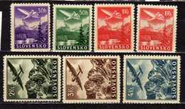 Slowakei / Slovakia, 1939/1944, Mi 48-53 (Mi 50 X + Y) **, Flugpost   [240319XXIV] - Unused Stamps