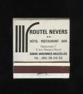 POCHETTE ALLUMETTES HOTEL ROUTEL NEVERS - Boites D'allumettes