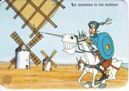 CALENDARIO DEL AÑO 1981 DE DON QUIJOTE DE LA MANCHA (CALENDRIER-CALENDAR) MOLINO-MILL-MOULIN - Calendarios
