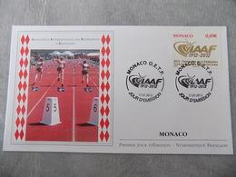FDC MONACO 2012 : Association Internationale Des Fédérations D'Athlétisme (Timbre De 0.89 Euro) - FDC