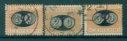 Z827 ITALIA REGNO 1890-91 Segnatasse Sass. 17-19, Serie Completa, Usati, Valore Catalogo € 90, Ottime Condizioni - 1900-44 Vittorio Emanuele III