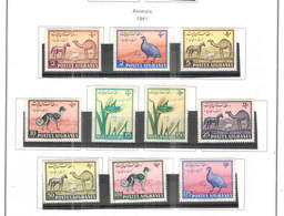 Afghanistan PO 1961 Animals .Scott.486/495+See Scan On Scott.Page; - Afganistán
