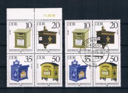 DDR 1985 Briefkästen Mi.Nr. 2924/27 4er Block ** + Gestempelt - [6] République Démocratique