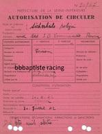 Gestapo- Rouen-autorisation De Circuler-kds Rouen-sd-Sicherheitspolizei (« Police De Sûreté) - 1939-45