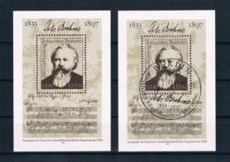DDR 1983 Brahms Block 69 ** + Gestempelt - Bloques