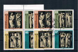 DDR 1983 Naumburger Dom Mi.Nr. 2808/11 4er Block ** + Gestempelt - DDR