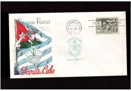 Cuba  - 1954   Fdc Scout - FDC