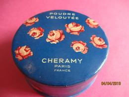 Maquillage/Boite De Poudre De Riz/ CHERAMY, Paris/ Poudre Veloutée / Pêche /Vers 1930-50    PARF188 - Kosmetika