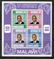 MALAWI   Scott # 288a** VF MINT NH Souvenir Sheet SS-368 - Malawi (1964-...)