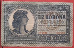 10 / Tiz Korona 1919 (WPM 41) - Hungary