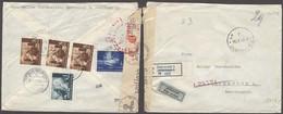 CROATIA. 1942 (26 Nov). Dubroknik - Gemrany (3 Oct). Reg Reverse Multifkd Airmail Nazi Censored Env Scarce Period R-labe - Croatia