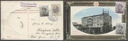 SERBIA. 1911 (3 Nov). Belgrade - USA / Niagara Falls. Multifkd View Card Mixed Issues, Tied Cds. Fine Transtlantic Usage - Serbia