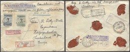 DUTCH INDIES. 1928 (16 Apri). Bijk. Simpang - Switzerland (11 Mayo). Hotel Color Ilustrated Reg Insured Multifkd Env 1g - Netherlands Indies