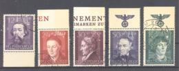 Generalgouvernement  Michel #   96 - 100  UR + OR Mit Reichsadler + Swastika - Besetzungen 1938-45