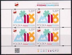 Poland 2018 Winter Olympic Games In PyeongChang Minisheet MNH - Winter 2018: Pyeongchang