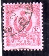 LIBYA LIBIA UNITED KINGDOM REGNO UNITO 1960 1961 STEMMA COAT OF ARMS 40m USATO USED OBLITERE' - Libia