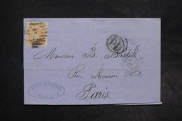 ESPAGNE - Lettre De Séville Pour La France En 1869 , Affranchissement Plaisant - L 27298 - 1868-70 Gobierno Provisional