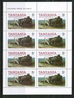 TANZANIA  Scott # 271-4** VF MINT NH Miniature Sheets Of 8 SS-372 - Tanzania (1964-...)
