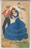CE  046 /  CPSM COUPLE , COSTUME ROBE  BRODEE / ELSI GUMIER  /  DANZAS  ANDALUZAS  29 - Embroidered