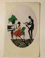 AK   SILHOUETTE  1920. - Scherenschnitt - Silhouette